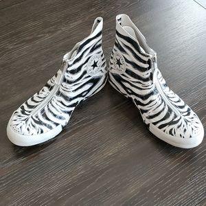 Converse CTAS Shroud Hi White & Black Zebra Shoes